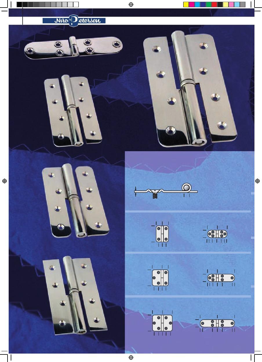 2x Poliert 316 Edelstahl Deck Scharnier Winkel Seitenmontage Platte mit