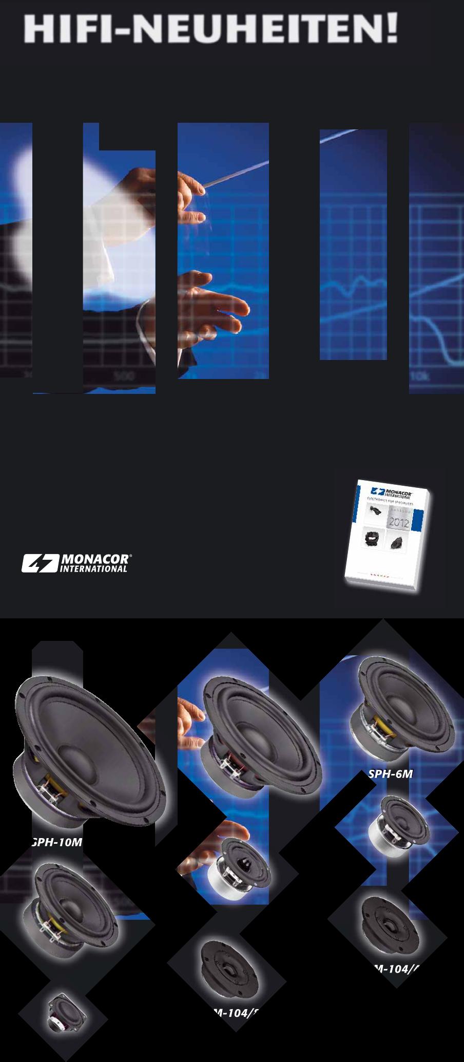 Monacor SPH 200 Ke 8 Ohm Top-Hi-Fi-Tiefmitteltöner