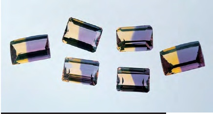 2-5 pc 250+Carat Lot Natural Ametrine Facet Rough Crystal Gemmy Old Earth Mined