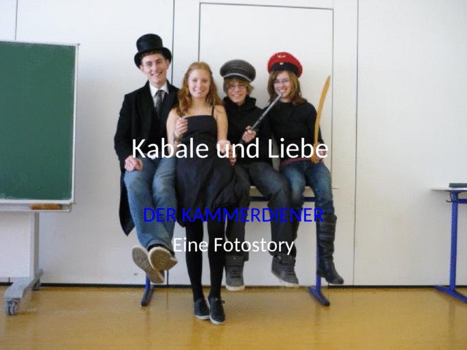 Kabale Und Liebe Der Kammerdiener Eine Fotostory Ppt Powerpoint